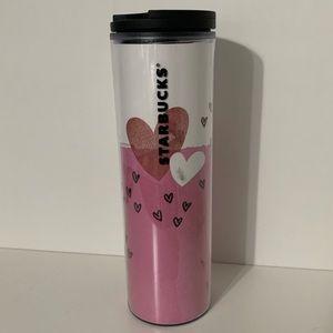 Starbucks Valentines Hearts 16oz Plastic Tumbler